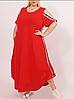 Летнее длинное платье асимметрия, разные расцветки с 48-98 размер