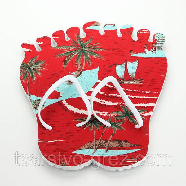 Тапки вьетнамки Лапа (Цвет: КРАСНЫЙ) (38 размер)