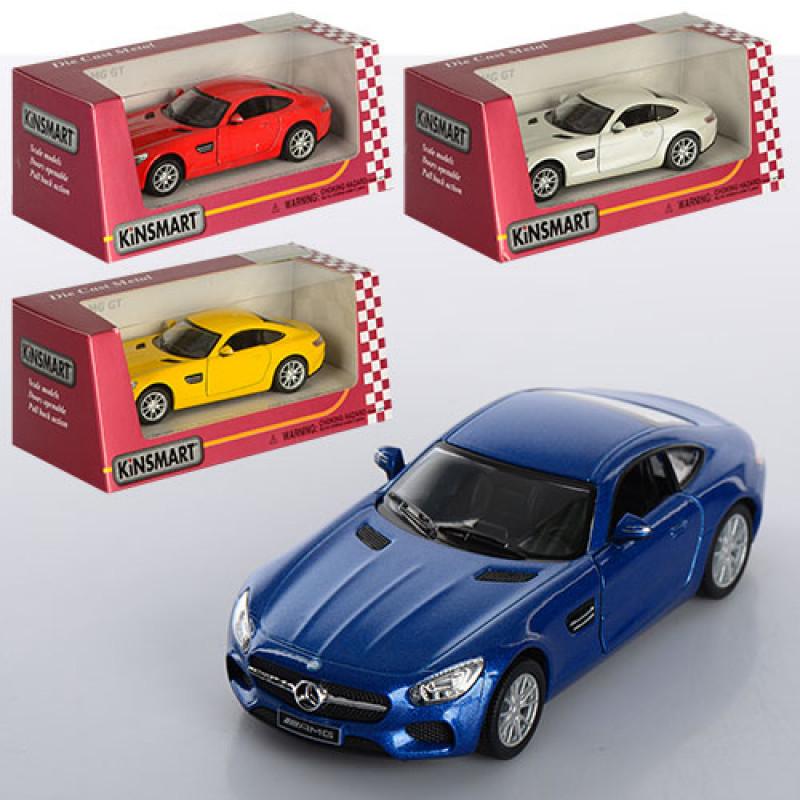 Машинка KINSMART Mercedes-AMG GT KT5388W, металева, 4 кольори, в коробці, 16-7-8 см