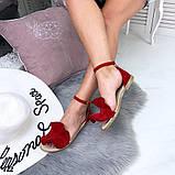 Женские босоножки с рюшами и ремешком из натуральной кожи, фото 2