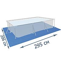 Подстилка для бассейна Bestway 58100 295 х 206 см,прямоугольная