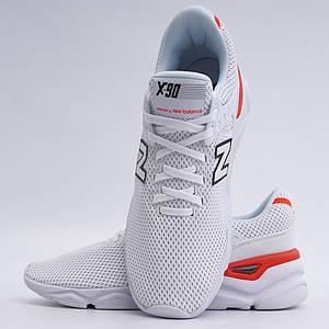 Оригинальные белые мужские кроссовки в сетку New Balance X-90 msx90scc