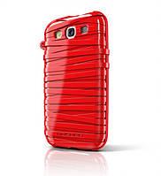 Резиновый чехол-накладка для телефона MUSUBO Rubber Band back cover for Samsung i9300 Galaxy S III, red (MU11016RD)