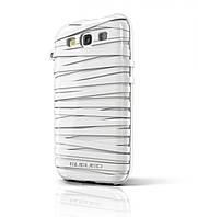 Резиновый чехол-накладка для телефона MUSUBO Rubber Band back cover for Samsung i9300 Galaxy S III, white (MU11016WE)
