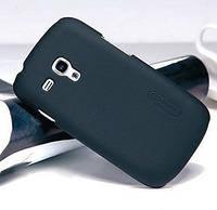 Пластиковый чехол-накладка для телефона Nillkin Super Frosted Shield case for Samsung i8190 Galaxy S III Mini, black