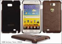 Кожаный чехол-накладка для телефона Lamborghini Aventador D1 leather back cover for Samsung i9220 Galaxy Note, black