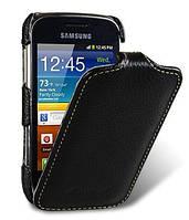 Чехол-книжка для телефона Melkco Jacka leather case for Samsung S6500 Galaxy Mini 2, black (SSGM65LCJT1BKLC)