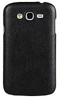 Кожаный чехол-накладка для телефона Melkco Snap leather cover for Samsung i9080 Galaxy Grand/i9082 Grand Duos, black (SSGD82LOLT1BKLC)