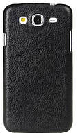 Кожаный чехол-накладка для телефона Melkco Snap leather cover for Samsung i9152 Galaxy Mega 5.8, black (SSMG91LOLT1BKLC)