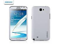 Пластиковый чехол-накладка для телефона Momax Ultra Tough Soft case for Samsung N7100 Galaxy Note II, white (CHUTSANOTE2AW)