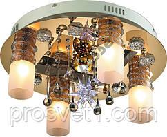 Люстра со светодиодной подсветкой LV157-05, Ф450, Белый+Золото***