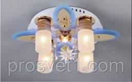 Люстра со светодиодной подсветкой 81319/4+1 WT+GD+RBP***