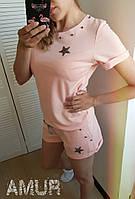 Женский летний костюм с шортами большие размеры СЕР1265, фото 1