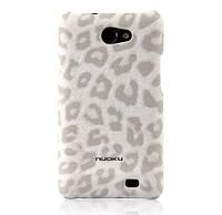Кожаный чехол-накладка для телефона Nuoku LEO stylish leather cover for Samsung i9103 Galaxy R, white