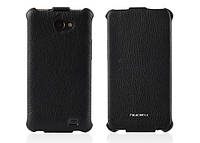 Кожаный чехол-книжка для телефона Nuoku ROYAL luxury leather case for Samsung i9103 Galaxy R, black