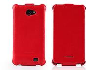 Кожаный чехол-книжка для телефона Nuoku ROYAL luxury leather case for Samsung i9103 Galaxy R, red