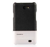 Кожаный чехол-накладка для телефон Nuoku ROYAL luxury leather cover for Samsung i9103 Galaxy R, black