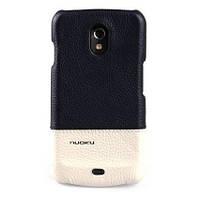 Кожаный чехол-накладка для телефон Nuoku ROYAL luxury leather cover for Samsung i9250 Galaxy Nexus, blue