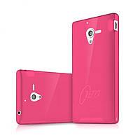 Пластиковый чехол-накладка для телефона itSkins Zero.3 cover case for Sony Xperia ZL, pink (YZL ZERO3 PINK)