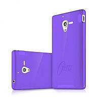 Пластиковый чехол-накладка для телефона itSkins Zero.3 cover case for Sony Xperia ZL, purple (YZL ZERO3 PRPL)