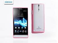 Чехол для телефона Momax i-Case Pro for SONY LT26i Xperia S, pink/white (ICPSOXPSPW)