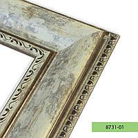 Зеркало в пластиковой рамке из багета 8731-01 (старая бронза)