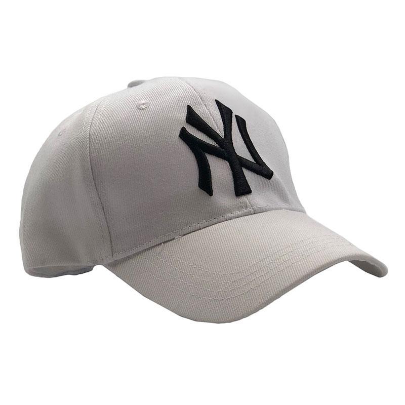 Бейсболка МК-1210 без наклеек белая, черное лого
