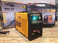 Сварочный аппарат инвертор Kaiser MMA-300 Home Line, Дисплей, Кейс, 300А, 8.0кВт