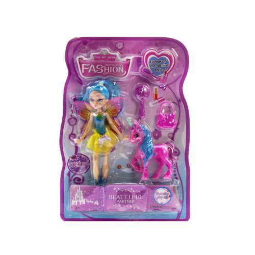 Кукла Фея L970-2 розовый