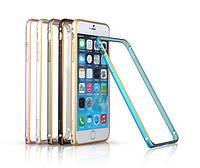 Чехол-бампер для iPhone 6, blue (Bumperi6-BL) Yoobao Metal aluminum alloy Bumper