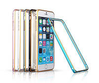 Чехол-бампер для iPhone 6, silver (Bumperi6-S) Yoobao Metal aluminum alloy Bumper