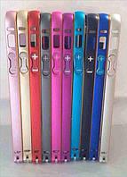 Чехол-бампер для iPhone 5/5S, pink Metal bumper