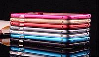 Чехол-бампер для iPhone 6 without golden line, red Metal bumper