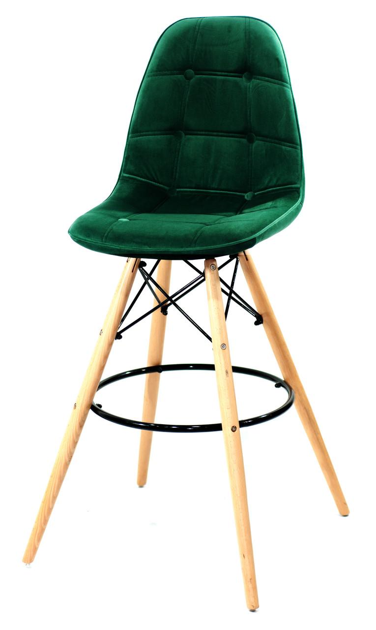 Барний стілець Alex Оксамит, зелений