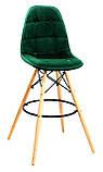 Барний стілець Alex Оксамит, зелений, фото 3