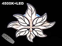 Потолочная LED-люстра с диммером и подсветкой, 135W