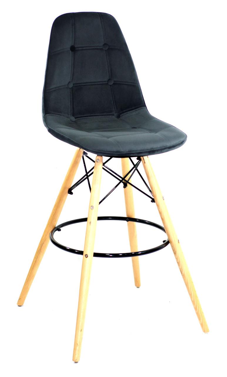Барный стул Alex Бархат, черный