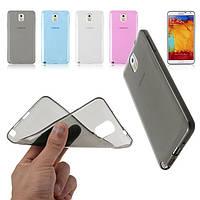 Силиконовый чехол для телефона N915 Samsung Galaxy Note Edge black Ultrathin TPU 0.3 mm cover case