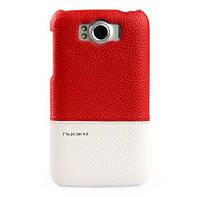 Кожаный чехол-накладка для телефона Nuoku ROYAL luxury leather cover for HTC Sensation XL G21, red