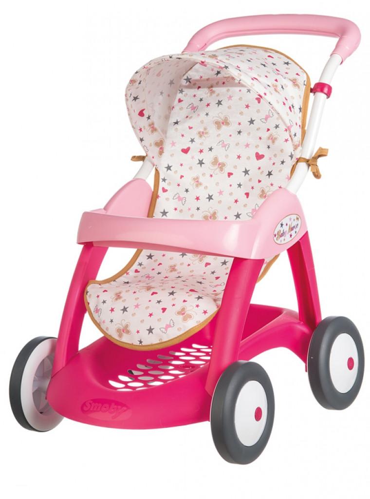 Коляска Smoby Baby Nurse для прогулянок з кошиком (251023)