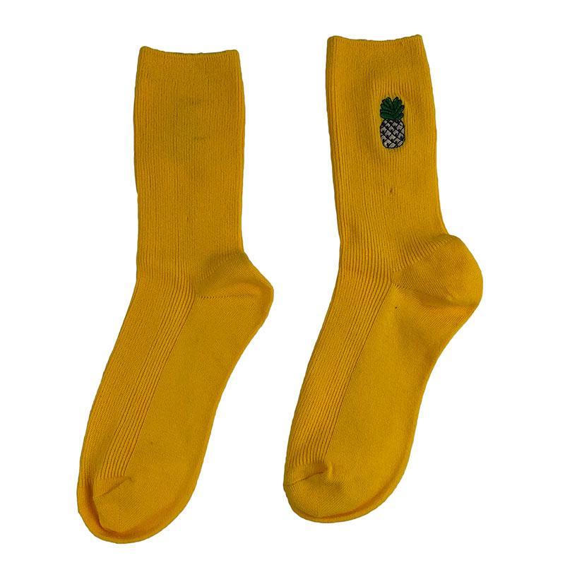 Носки женские МК-1333 высокие желтые (р37-45)