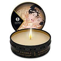 Массажная свеча возбуждающая Shunga MINI MASSAGE CANDLE - Vanilla Fetish Ванильный фетиш (30 мл) Шунга
