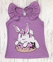 """Майка для девочки """"Кролик"""""""
