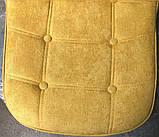 Барный стул Alex Шенилл, желтый, фото 2