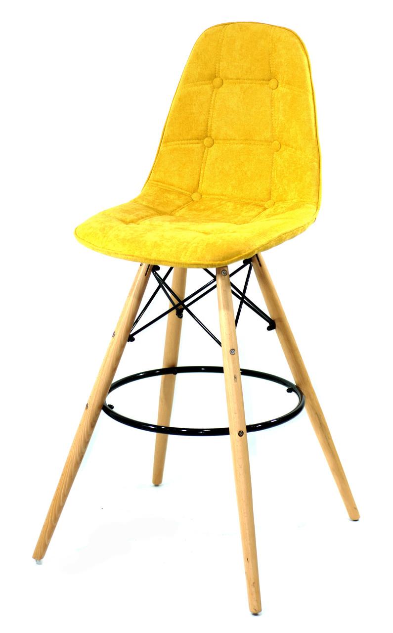 Барный стул Alex Шенилл, желтый
