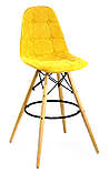 Барный стул Alex Шенилл, желтый, фото 5