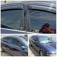 Дефлекторы окон (ветровики) клеющие / накладные Д/о Audi A6 4D 1997-2003 Sedan 4шт (ANV-AIR)