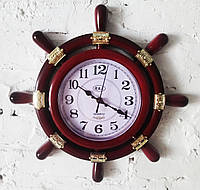 """Настенные часы """" Штурвал """", фото 1"""