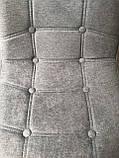 Барний стілець Alex Шеніл, сірий, фото 3