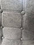 Барний стілець Alex Шеніл, сірий, фото 5